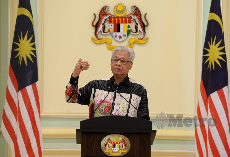 ISMAIL Sabri ketika sidang media di Bangunan Perdana Putra, Putrajaya, hari ini. FOTO Bernama