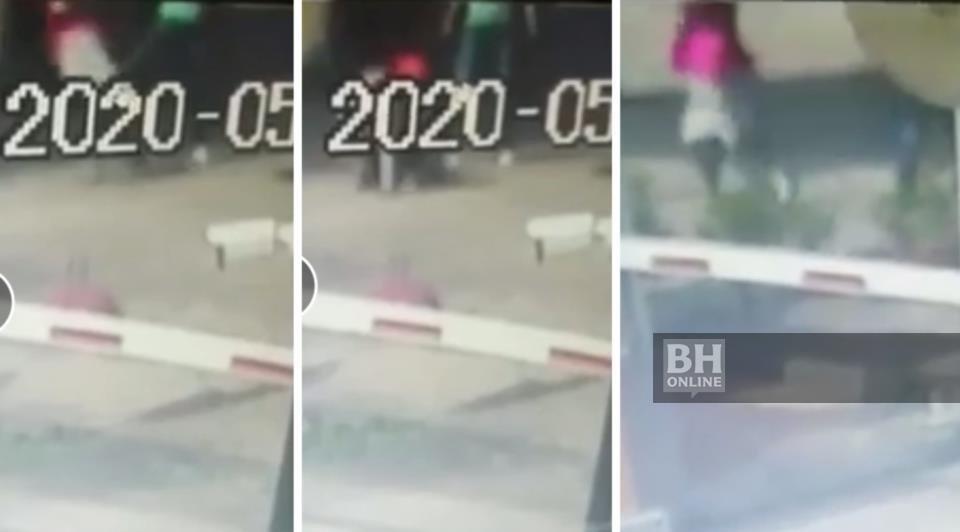 Rakaman video CCTV menunjukkan perselisihan faham di antara seorang wanita penghantar makanan dengan seorang lelaki dalam kejadian di Bandar Puteri, Puchong.