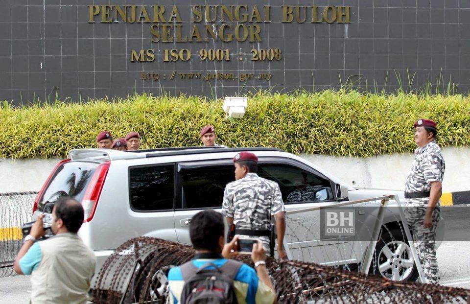 700 kakitangan dan 800 tahanan di Penjara Sungai Buloh sedang disaring Kementerian Kesihatan. - Foto fail NSTP