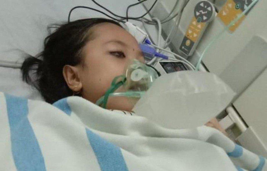 SITI Masfufah dimasukkan ke hospital kerana kencing manis kronik. FOTO AGENSI