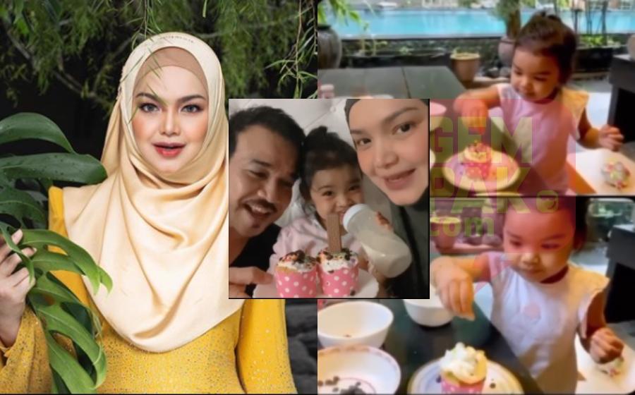Aaafiyah Buat Kek Sempena Anniversary Ke- 14 Siti Nurhaliza & Datuk K