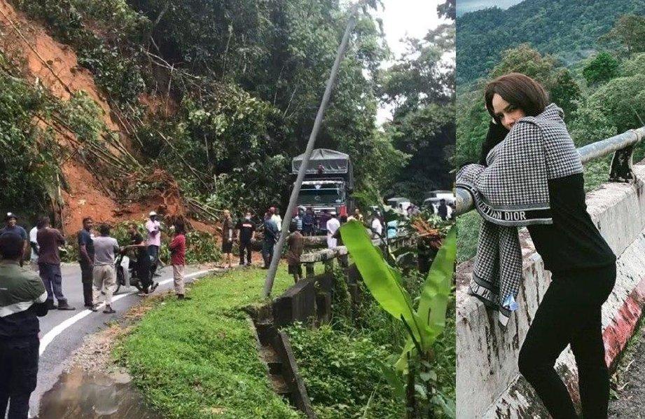 Nora Danish berdepan detik cemas di Jalan Tapah - Cameron Highlands.