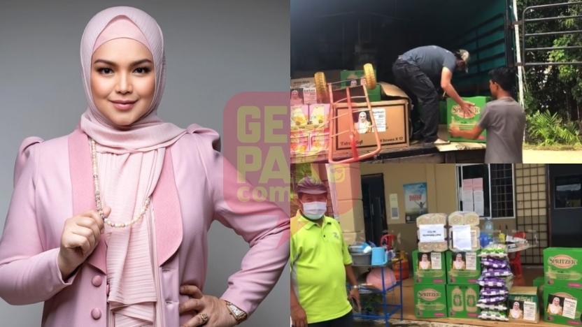 """""""Bukan Tidak Mahu Tapi…""""- Tak Dapat Turun Pahang, Siti Nurhaliza Hantar Selori Bantuan Dari KL"""